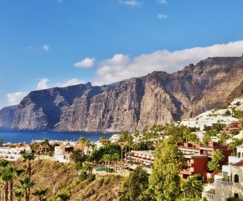 Los Gigantes, a popular holiday destination Tenerife, in the Spanish Canary Islands